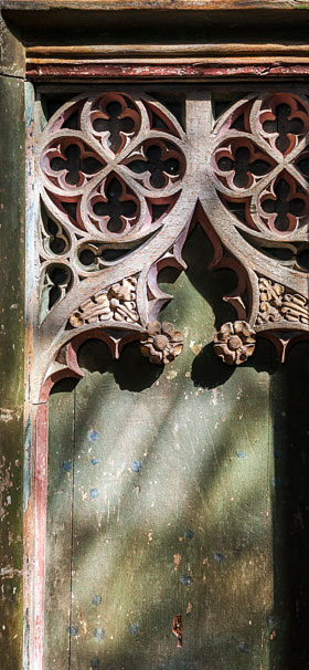 Part of a medieval screen.